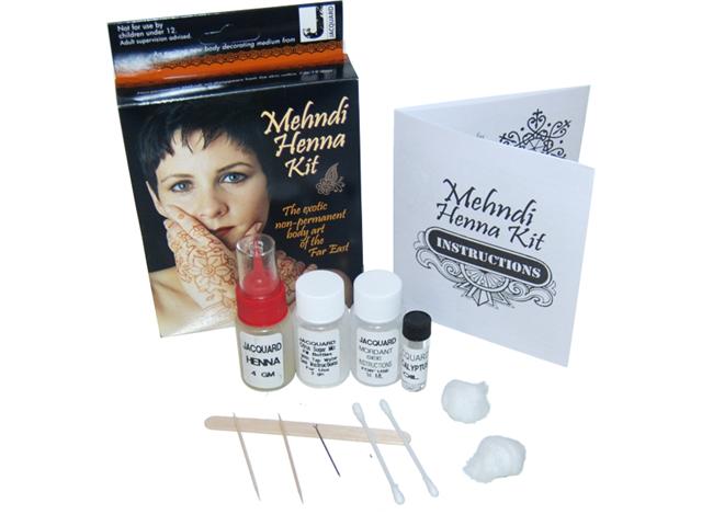 Jacquard Mehndi Henna Far East Complete Body Art Kit Temporary