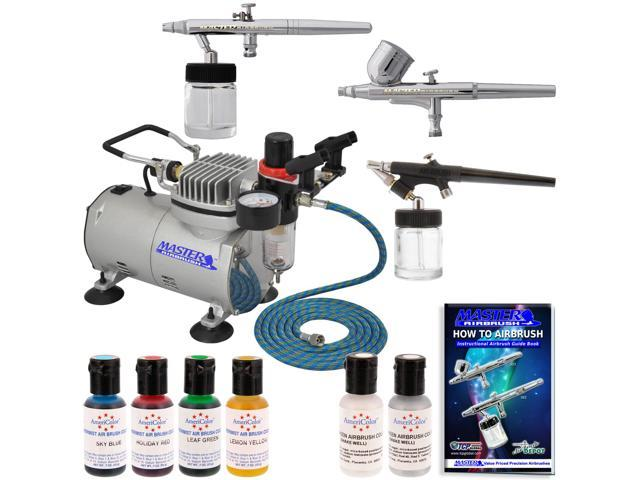 3 Airbrush Cake Decorating System Kit Air Compressor