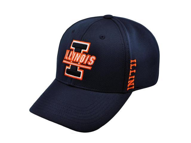 online store 0eeab 4e943 Illinois Fighting Illini Top of the World Navy Booster Memory Flex Hat Cap  (M