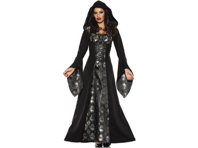 Skull Mistress Womens Gothic Witch Robe Halloween Costume L Newegg