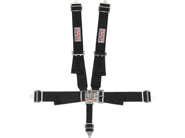G-FORCE 6000BK 5-Point SFI Racing Harness Racing Seat Belts ...