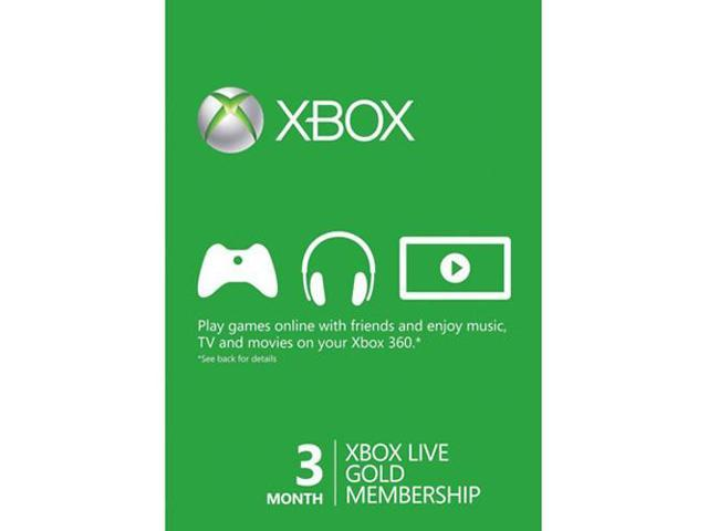 Xbox Live 3 Month Subscription Card Microsoft Newegg Ca
