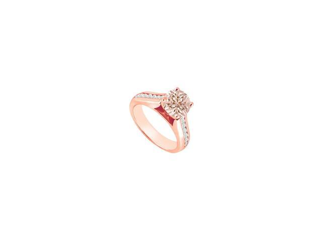 eb7de3a0ca0d4 Pastel Pink Morganite with CZ Accents Engagement Ring 14K Rose Gold Vermeil  on Silver Top Design - Newegg.com