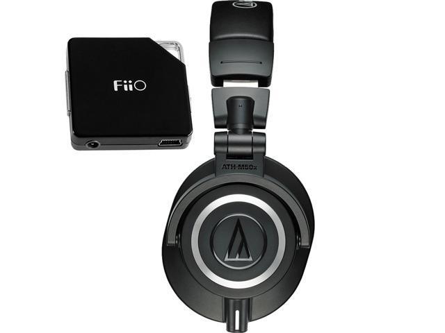 08187fed97b Audio-Technica Studio Monitor Headphones + FiiO E6 Portable Headphone  Amplifier Headphones & Accessories - Newegg.com
