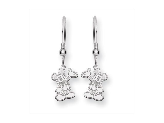Disney S Waving Mickey Mouse Dangle Earrings In Sterling Silver