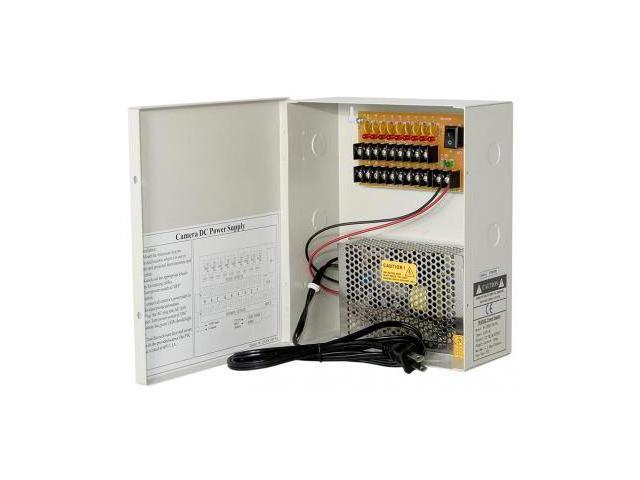 Power Supply Distribution Box - 12V DC 9 channels 5 Amps, Resettable PTC  Fuse - Newegg com