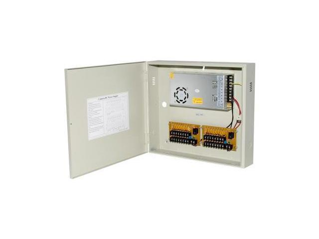 Power Supply Distribution Box - 12V DC 16 channels High Output 25 Amps,  Resettable PTC Fuse - Newegg com