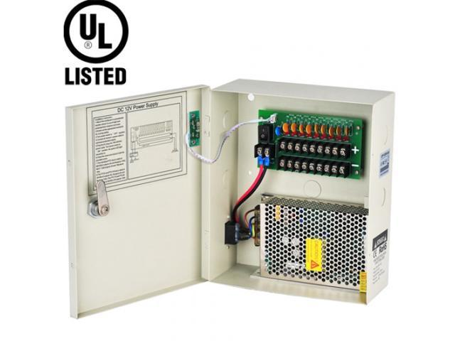 DC 12V 18CH 29 Amps POWER SUPPLY Distribution BOX for Security CAMERA UL-LIST
