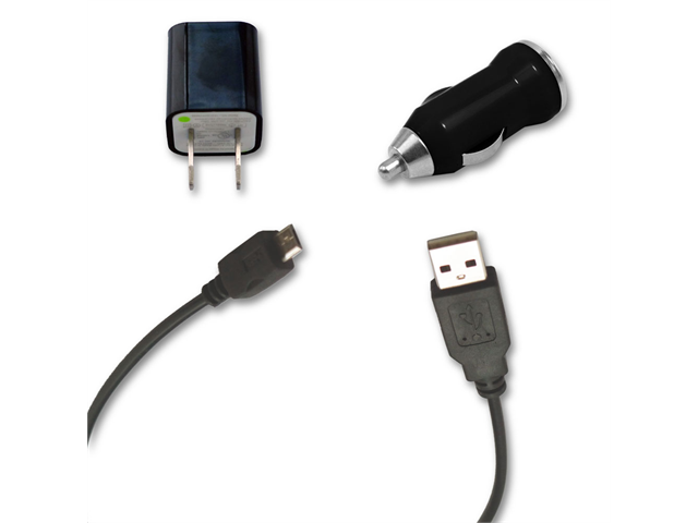 USB Data Cable + AC Wall & Car Charger for Samsung Galaxy Trend Duos GT  S7562 - Newegg com