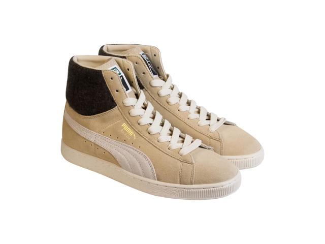 sale retailer 17e5c c9e68 Puma Suede Mid City Menswear Semolina Mens High Top Sneakers - Newegg.com