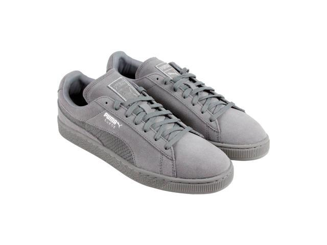 timeless design 51fe0 b34db Puma Suede Classic Mono Reptile Steel Gray Puma Silver Mens Lace Up  Sneakers - Newegg.com