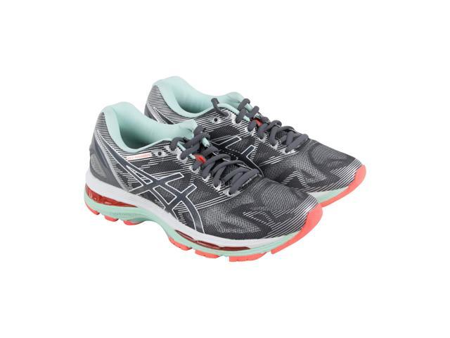 Asics Gel Nimbus 19 Carbon White Flash Coral Womens Athletic Running Shoes