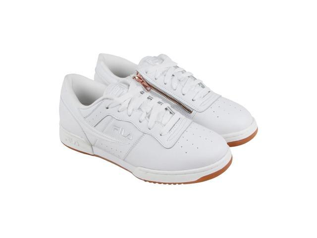 Fila Original Fitness Zipper Mens White Casual Low Top Sneakers Shoes