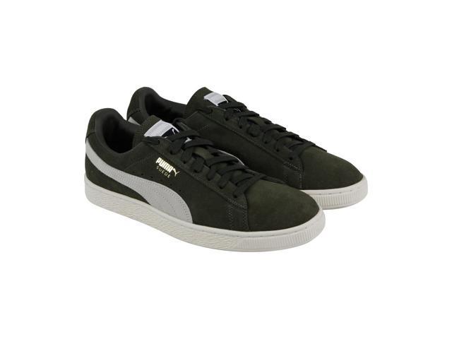 reputable site 708c6 aefc6 Puma Suede Classic + Olive Night Birch Mens Low Top Sneakers - Newegg.com