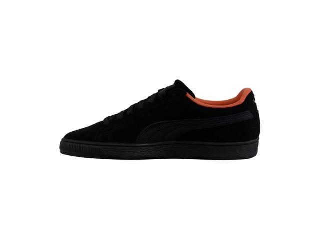 new styles a6325 26108 Puma Suede Classic Tonal Nu Skool Black Black Mens Lace Up Sneakers -  Newegg.com