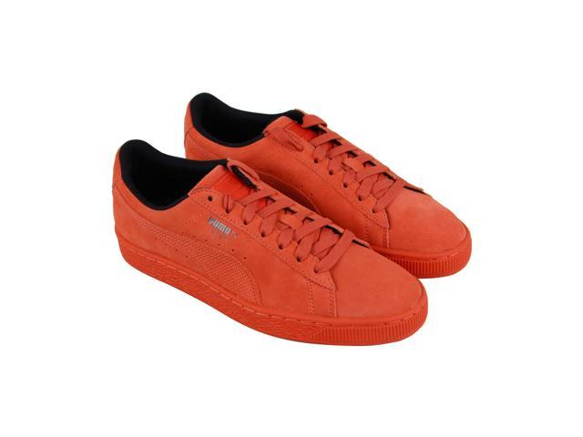 735e6a3fd3e Puma Suede Classic Tonal Nu Skool Orange Mens Lace Up Sneakers ...