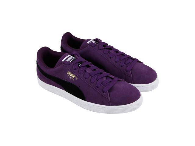 Puma Suede Classic Shadow Purple Black White Mens Lace Up Sneakers ... f7c00fadb