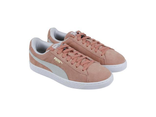 the latest f6fda d9f1a Puma Suede Classic Muted Clay White Mens Low Top Sneakers - Newegg.com