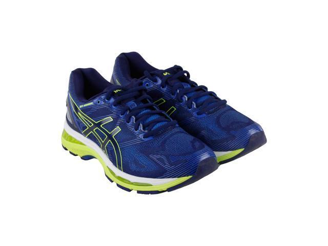 55ab23413b0c Asics Gel Nimbus 19 Indigo Blue Safety Yellow Electric Blue Mens Athletic  Running Shoes - Newegg.com