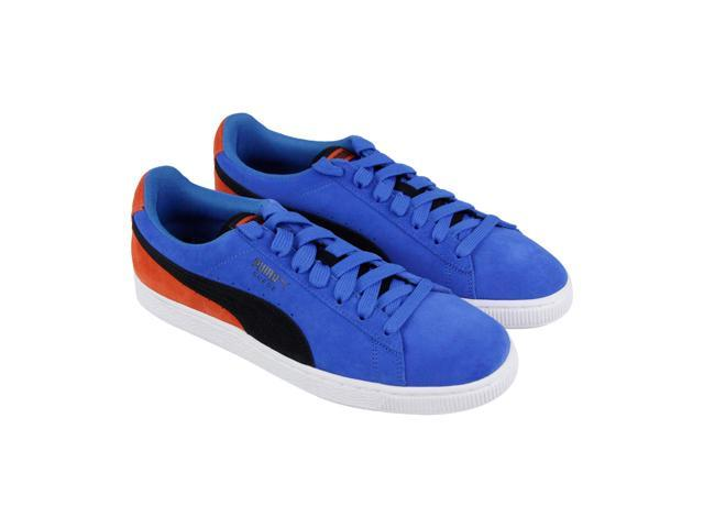 Puma Suede Classic Mens Blue Casual Lace Up Low Top Sneakers