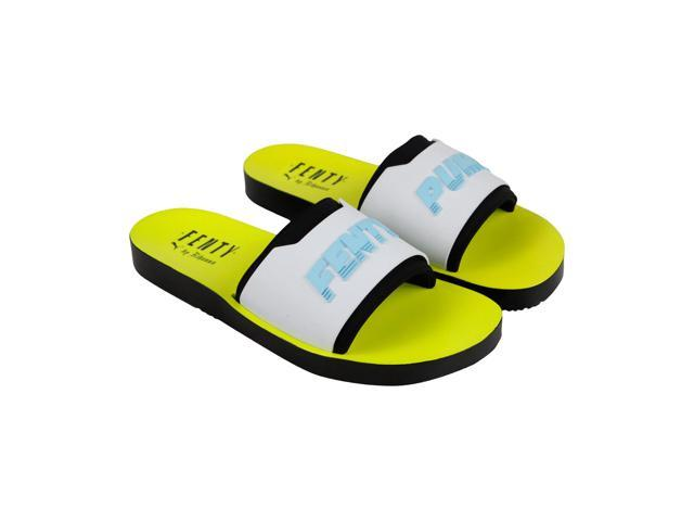 newest collection 8c057 53e22 Puma Fenty Surf Slide Black White Safety Yellow Mens Slides Sandals -  Newegg.com