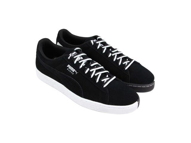 official photos 96541 73cac Puma Suede Classic Other Side Puma Black Puma White Mens Lace Up Sneakers -  Newegg.com