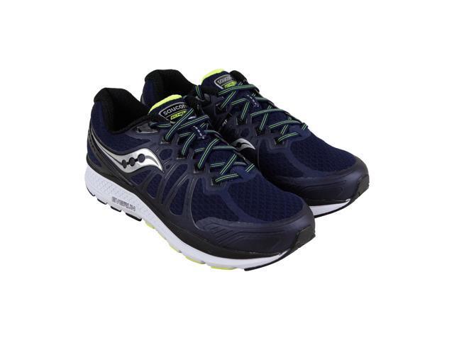 online retailer ccaa5 688c3 Saucony Echelon 6 Navy Citron Mens Athletic Running Shoes - Newegg.com