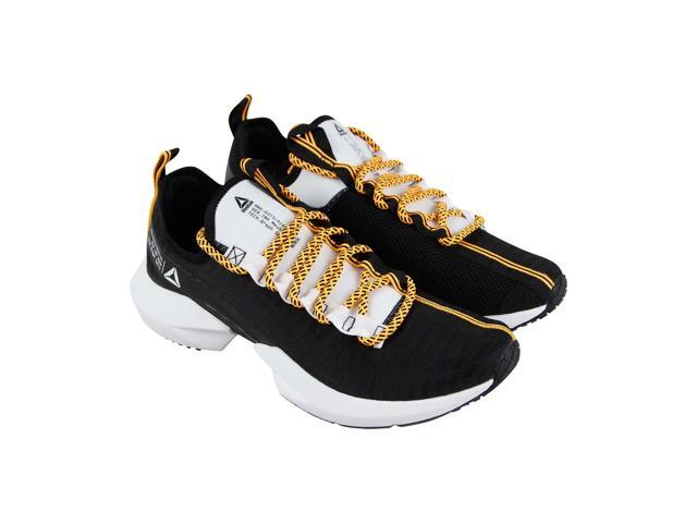87390fb9ed25 Reebok Sole Fury Se Black White Solar Gold Mens Athletic Running Shoes