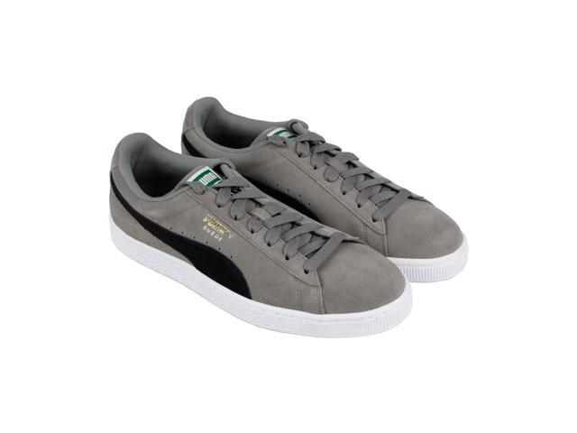 best loved c2021 ec1bb Puma Suede Classic Charcoal Gray Black Mens Low Top Sneakers - Newegg.com