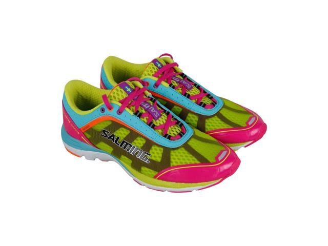 d892ab39 Salming Distance 3 Pink Glo Turquoise Womens Athletic Running Shoes