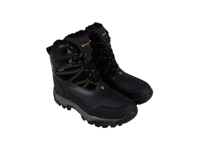 9342393ea93 Hi-Tec Snow Peak 200 Waterproof Black Gold Mens Hiking Boots - Newegg.com