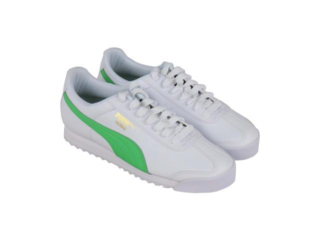 Puma Roma Basic + Mens White Synthetic Classic Sneakers Shoes
