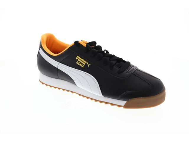 91dc5d04 Puma Roma Basic Black Orange Pop Mens Low Top Sneakers - Newegg.com