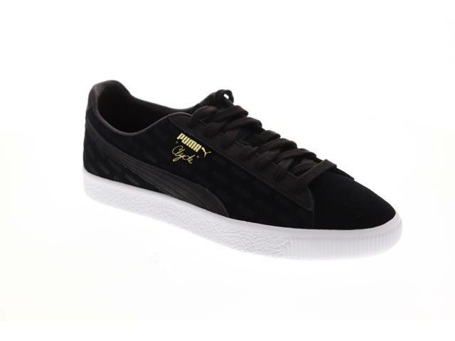 magasin en ligne 7424a 3d289 Puma Clyde Embossed Black Black White Mens Low Top Sneakers - Newegg.com