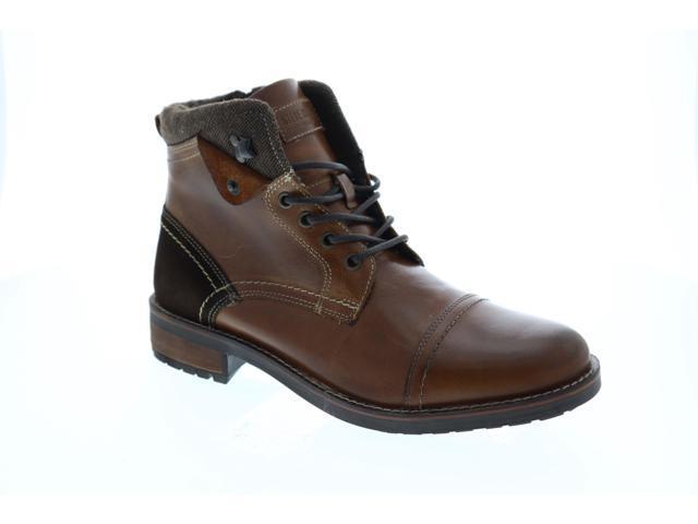 4bf100c56e7 Steve Madden Lundin Cognac Leather Mens Casual Dress Boots - Newegg.com