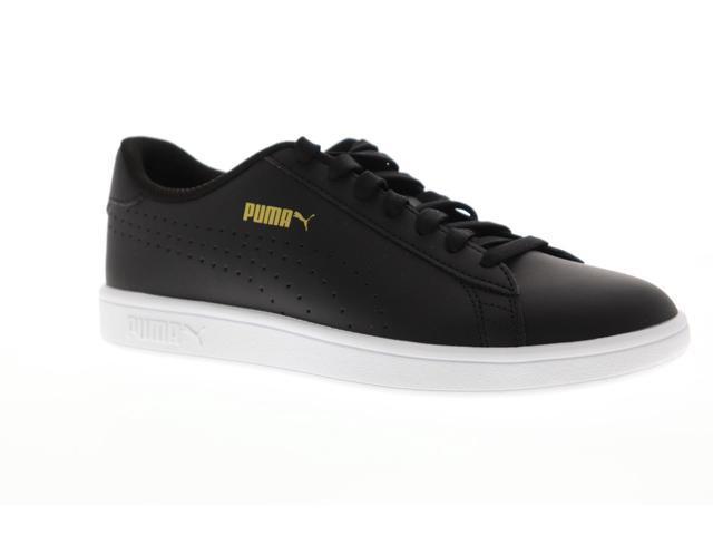 586544aabc6 Puma Smash V2 L Perf Black Team Gold White Mens Low Top Sneakers -  Newegg.com