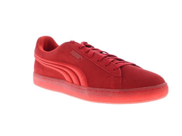 new arrival 2606a 21468 Puma Suede Classic Badge Iced High Risk Red Mens Low Top Sneakers -  Newegg.com