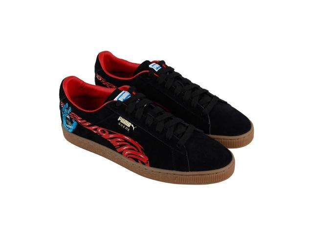 sneakers for cheap 22667 1b777 Puma Suede Classic X Santa Cruz Black High Risk Red Mens Low Top Sneakers -  Newegg.com
