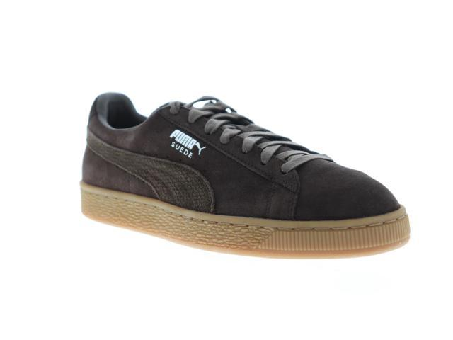 san francisco 6b792 95721 Puma Suede Classic Citi Black Coffee Mens Low Top Sneakers - Newegg.com