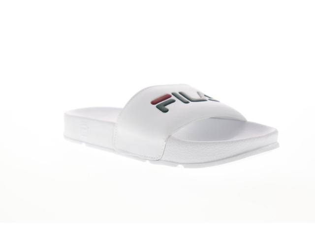 Fila Drifter Mens White Slip On Slides Sandals Shoes