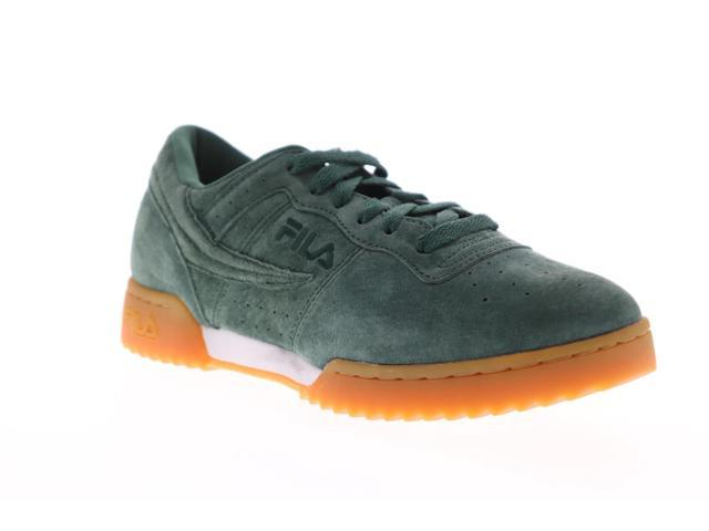 Fila Original Fitness Ripple Mens Green Suede Casual Low