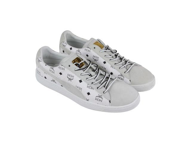 brand new 2f5f8 b0d12 Puma Suede Classic X MCM Whisper White Puma Black Mens Low Top Sneakers -  Newegg.com