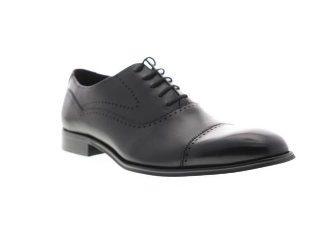 de067a03ef4 Steve Madden Gemelli Black Leather Mens Dress Oxfords - Newegg.com