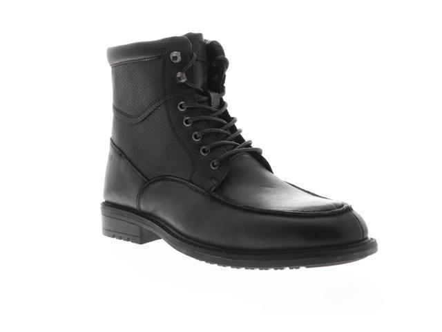 a0442590181 Steve Madden P-Gabun Black Leather Mens Casual Dress Boots - Newegg.com