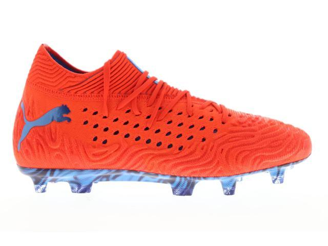 Puma Future 19.1 Netfit FG AG Mens Red Athletic Soccer Cleats Shoes