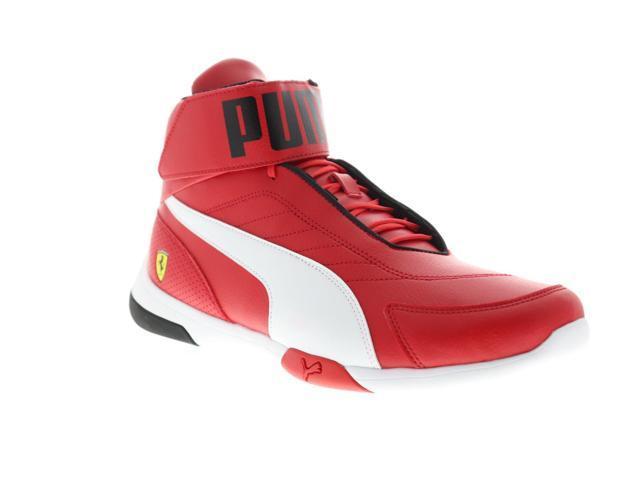 taille 40 30ab5 16c8f Puma Scuderia Ferrari Kart Cat Mid III Rosso Corsa White Mens Athletic  Racing Shoes - Newegg.com