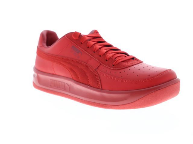 Puma GV Special + Mens Red Leather Lace Up Low Top Sneakers Shoes 12