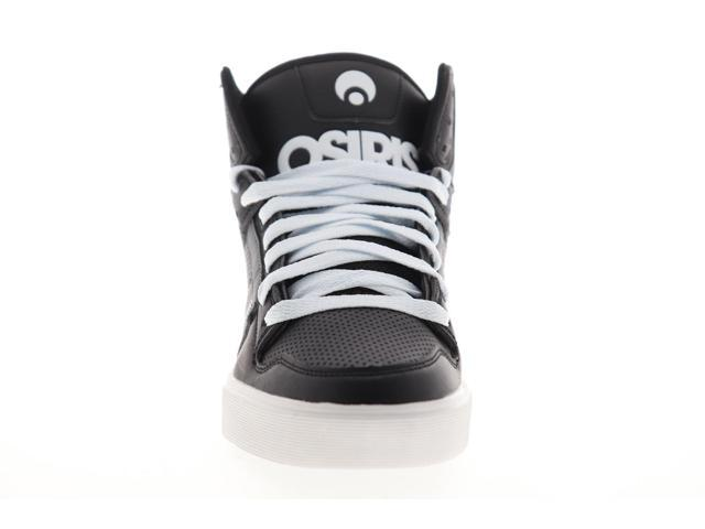 Osiris Clone Mens Black Leather Lace Up Athletic Skate Shoes