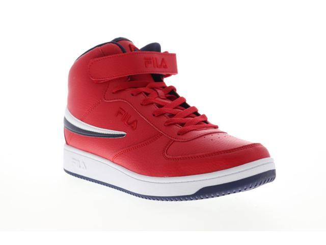 Fila A High Mens Red Synthetic Lace Up Low Top Sneakers Shoes