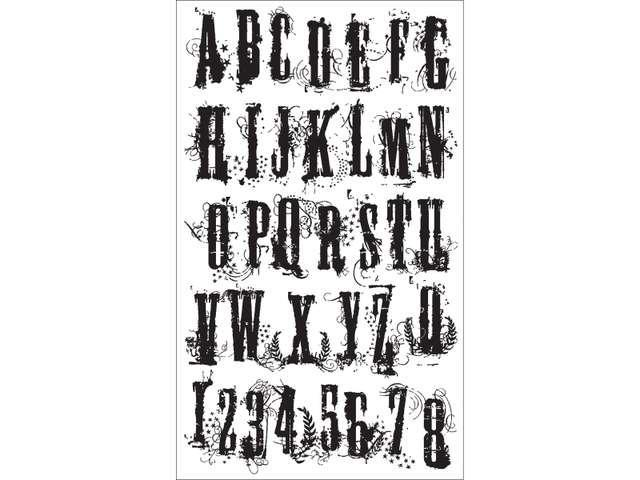 Stampers Anonymous Tim Holtz Mounted Red Rubber Stamp 2-Inch by 3-Inch The Storm